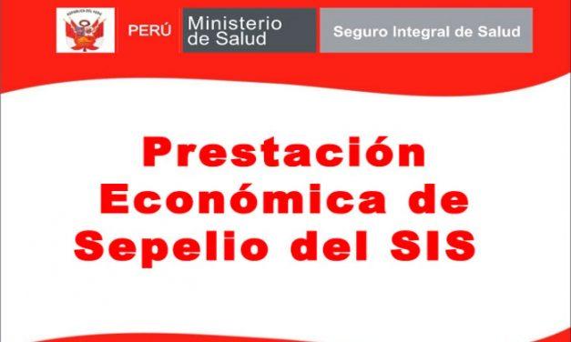 Prestación Económica por Sepelio para el SIS